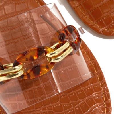 Women Slippers Summer Women Beach Flat Transparent Shoes Open Toe Outdoor Slides Soft Sole Female Roman Flip Flops