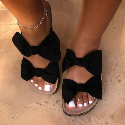 Bow Flip Flop Flat With Slip-On PVC Slippers