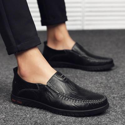 Leather Men Casual Shoes Slip on Formal Loafers Men Moccasins Italian Black Brown Comfy Male Shoes
