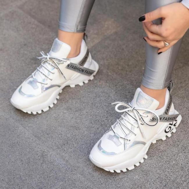 White Sneaker New Fashion Sport Outdoor Running Sneakers Womens Shoes Walking Jogging Shoes