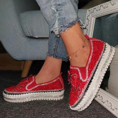 Shoes Woman Rhinestone Transparent PVC Platform Sneakers Breathable Casual Shoes Flats New
