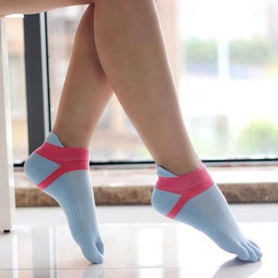 Women Split Socks Low Cut Ankle Show Toe Socks Cotton Blend Breathable Five Finger Feet Wearing Sock