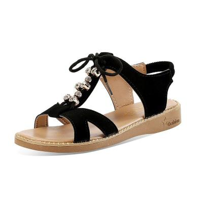 Crystal Ladies Gladiator Sandalias Beach Casual Shoes Women Sandals Summer Comfortable Wedge Shoes