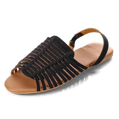 Flats Sandals Women Sandals PU Leather Shoes Casual Beach Women Shoes