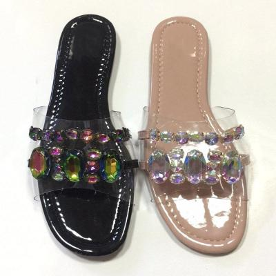 Flat With Flip Flop Slip-On See-Through PVC Slippers