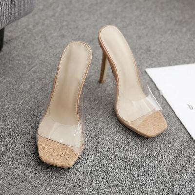 Sexy  Slippers Sandals Fashion Open Toed Thin Heels Women Slippers