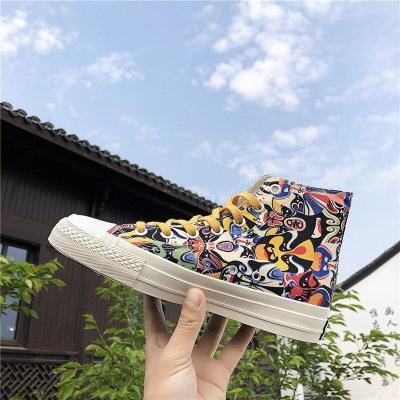 High-top Canvas Shoes Women Trend Hip Hop Street Style Non-slip Running