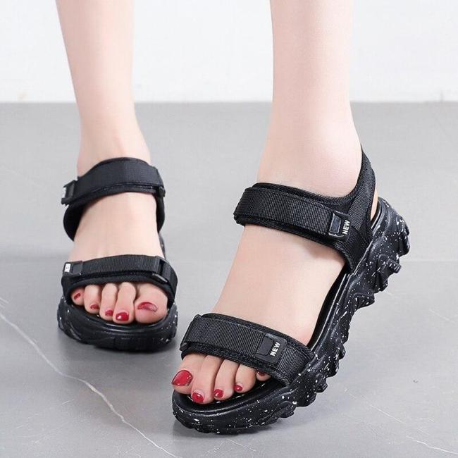Summer Outdoor Open Toe Platform Shoes Woman New Fashion Women Flats Casual Sandals