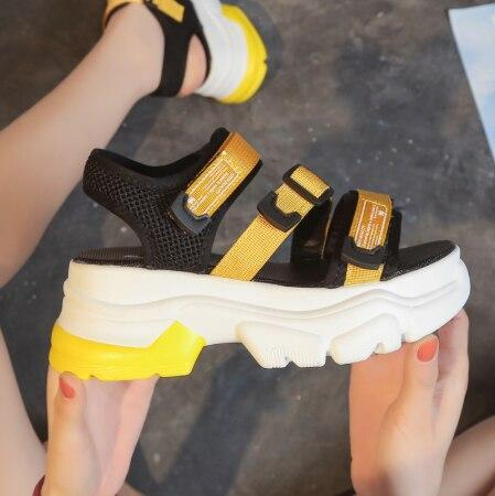 Summer Chunky Sandals for Women Fashion Platform Sandal Woman Wedges Shoes Casual Shoes