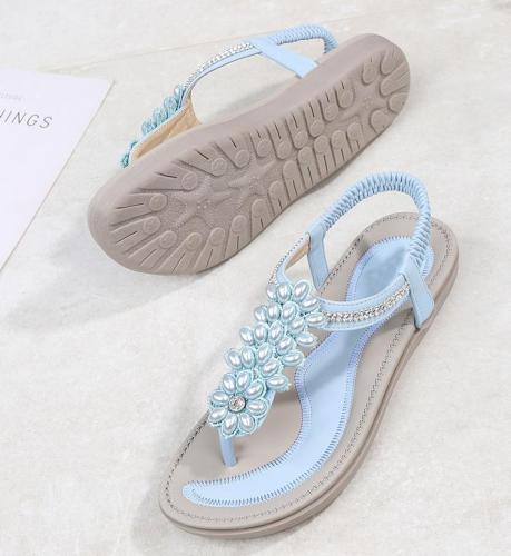 Fashion Women Beach Flip Flops Sandals Beading Ladies Teenslippers Women Summer Shoes