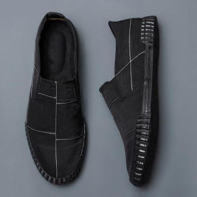 2020 Fashion Men's Canvas Sneakers Shoes Spring Men's Tide Slip on Men's Driving Loafer Shoes Men Shoes