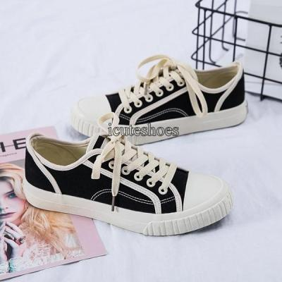 2020 New Canvas Shoes Women's Spring Wearing Shoes Flat Street Casual Wear Shoes