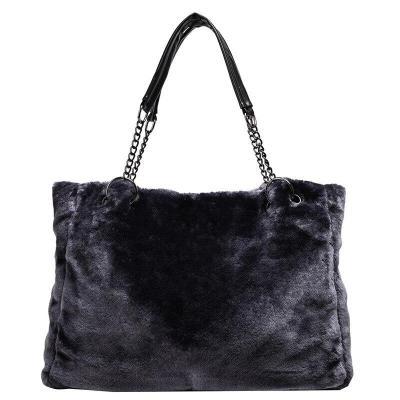 Autumn and Winter Plush WOMEN'S Bag Handbag Fashion Furry Large Bag LADY'S Shoulder Bag
