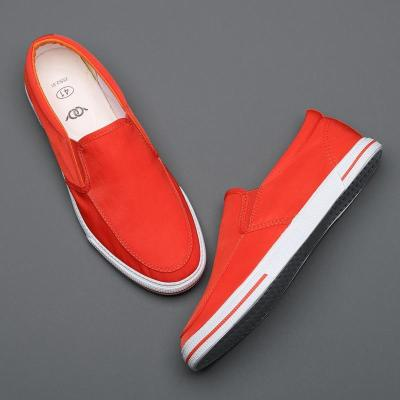 New Canvas Men's Vulcanized Shoes Spring/Autumn Loafer Shoe Breathable Colorful Male Leisure Sneakers