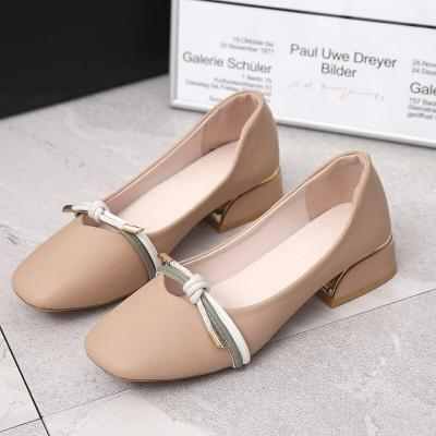 Fashion Spring Women Shoes Woman Outdoor Bow Knot Casual Shoes Solid Leather Flats Female Slip on Shallow Ladies Shoes