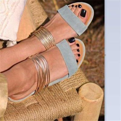 Summer Women Sandals Peep Toe Platform Flat Heel Fashion Casual Beach Female Laides Shoes