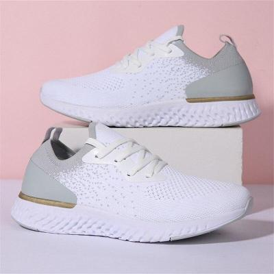 Sneakers Women's Outdoor Leisure Breathable Fitness Shoes Comfortable Mesh Soft Flat Walking Shoes Lace-Up