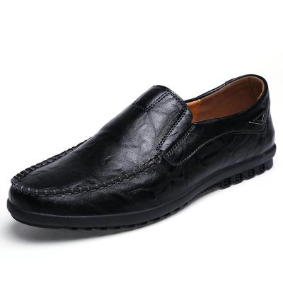 Genuine Leather Men Casual Shoes Luxury Mens Loafers Breathable Light Soft Driving Shoes Plus Size