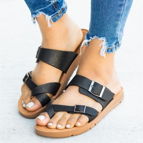 Summer Women Sandals Flsts Ladies Platform Wedge Slides Beach Shoes