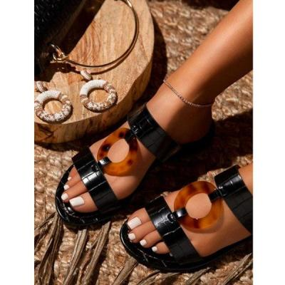 2020 Summer Shoes Fashion Open Toe Women Sandals Flat Outdoor Beach Slippers Comfortable Plus Size