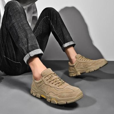 Man Leather Shoes Fashion Casual Shoe Male Suede Leather Sneakers Men's Walking Footwear Design