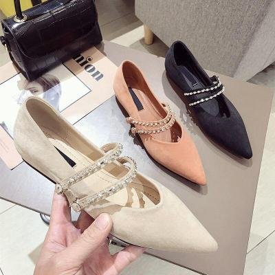 Women Winter Butterfly Knot Rivet Slip on Warm Loafers Shoes Home Casual Flats Shoes Women Pointed Toe Shoes