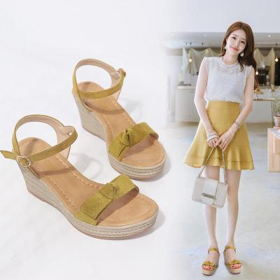 Wedge Shoes Fashion Women's Sandals Summer New Style Slope Heel All-around Sandals Open Toe