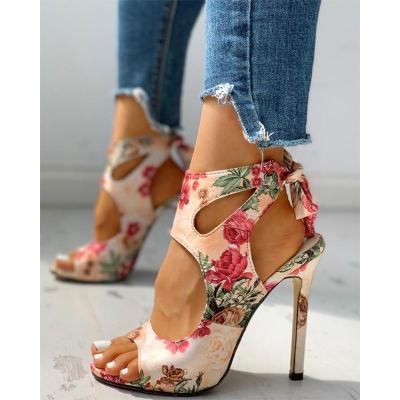 Women Summer Thin High Heels Peep Toe Pumps Office Sandals Party Shoes