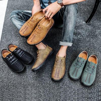 Comfortable New Men Loafers Soft Leather Shoes Men Casual Shoes Walking Shoes Man