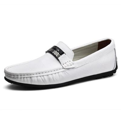 Men Shoes Casual Genuine Leather Mens Loafers Handmade Slip on Boat Shoes  Size