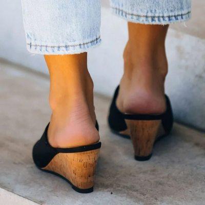 Fashion Women Summer Style Peep Toe Out High Heels Flip Flops Slides Female Party Shoes Woman Sandal