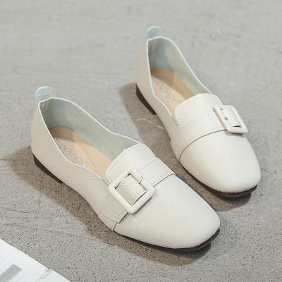 Plus Size 2020 New Women Loafers Soft Sole PU Leather Flats Casual Shoes Woman Slip On Shallow Women's Boat Shoes