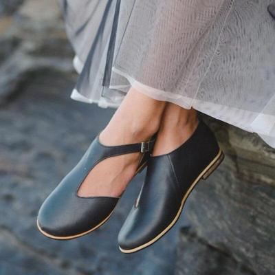 Genuin Leather Sandals Flat Buckle Shoes For Soft Fashion Sandal Women Female Casual Summer Beach Shoes