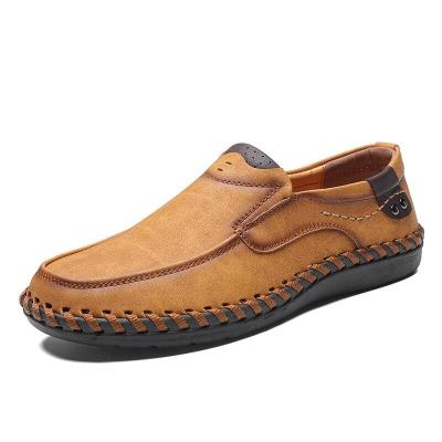 Genuine Leather Mens Shoes Casual Luxury Brand Loafers Fashion Breathable Driving Shoes Slip on Size