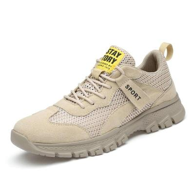 Man Shoes Suede Leather Summer Breathable Men's Casual Shoe Khaki Fashion Walking Footwear New Arrivals Soft