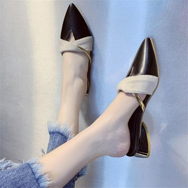Pointed Toe Women's Fashion Outdoor Sexy Office Lady Sandals Slippers