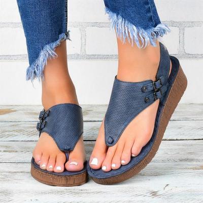Summer Wedges Women Sandals Open Toe Casual Lace Up Women Platform Sandals