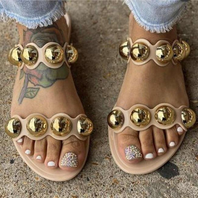 Women Slippers Flat Diamond Outdoor Casual Women Sandals Fashion Comfortable Plus Size