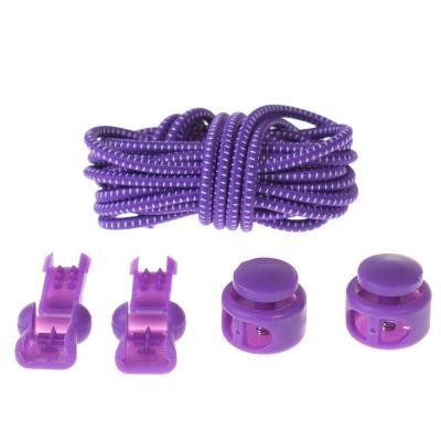 Shoelaces Unisex Elastic Shoe Laces for Men Women All Sneakers Fit Strap Sport Shoes Reflective Buckle Lazy Lock Laces White