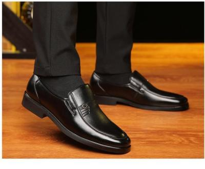 Men Leather Formal Business Shoes Office Work Flat Shoes Breathable Party Anniversary Shoes