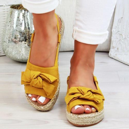 Platform Bow Flip Flop Slip-On Rubber Slippers
