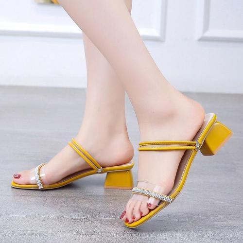 Women's Sandals Summer New Women Chunky Heels Buckle