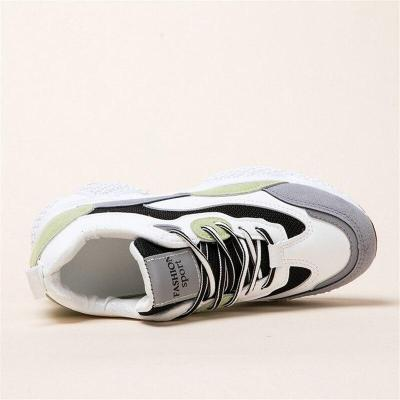 New Casual Sneakers Breathable Mesh Women's Walking Shoes Height Vulcanized Shoes Girl Comfortable Sneakers