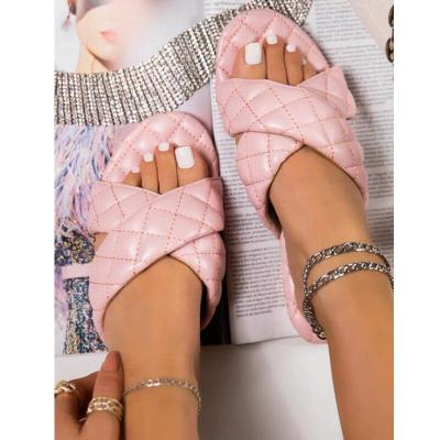 2020 Summer New Women Shoes Fashion Flat Sandals Outdoor Slippers Small Fragrance Comfortable Plus Size 41