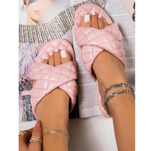 Women Shoes Fashion Flat Sandals Outdoor Slippers Small Fragrance Comfortable Plus Size