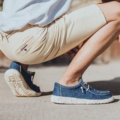 Vulcanized Shoes Men's Shoes Wild Shoes Summer Casual Shoes Trend Canvas Plus Size Man Walking
