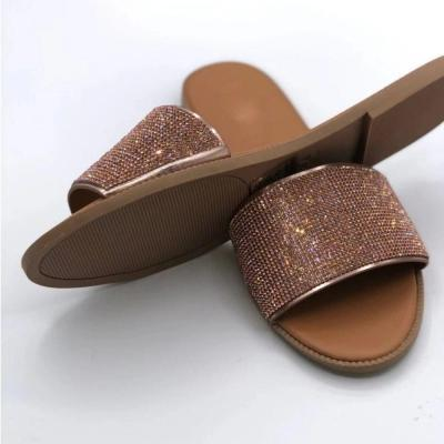 Sequin Flip Flop Flat With Slip-On Casual PVC Slippers