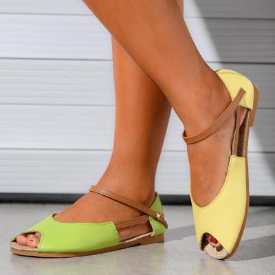 Women Sandals Summer Female Shoes Luxury Brand Designer Women's Peep-toe Flat Slip-on Female Sandalias