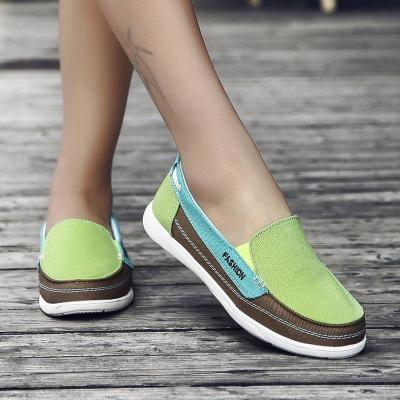 Spring Autumn Canvas Flats Slip on Shoes for Women Comfort Soft Summer Womens Flat Fashion Loafers Shoe