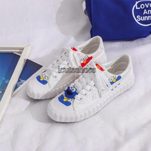 2020 New White Shoes Canvas Shoes for Women Summer Flats